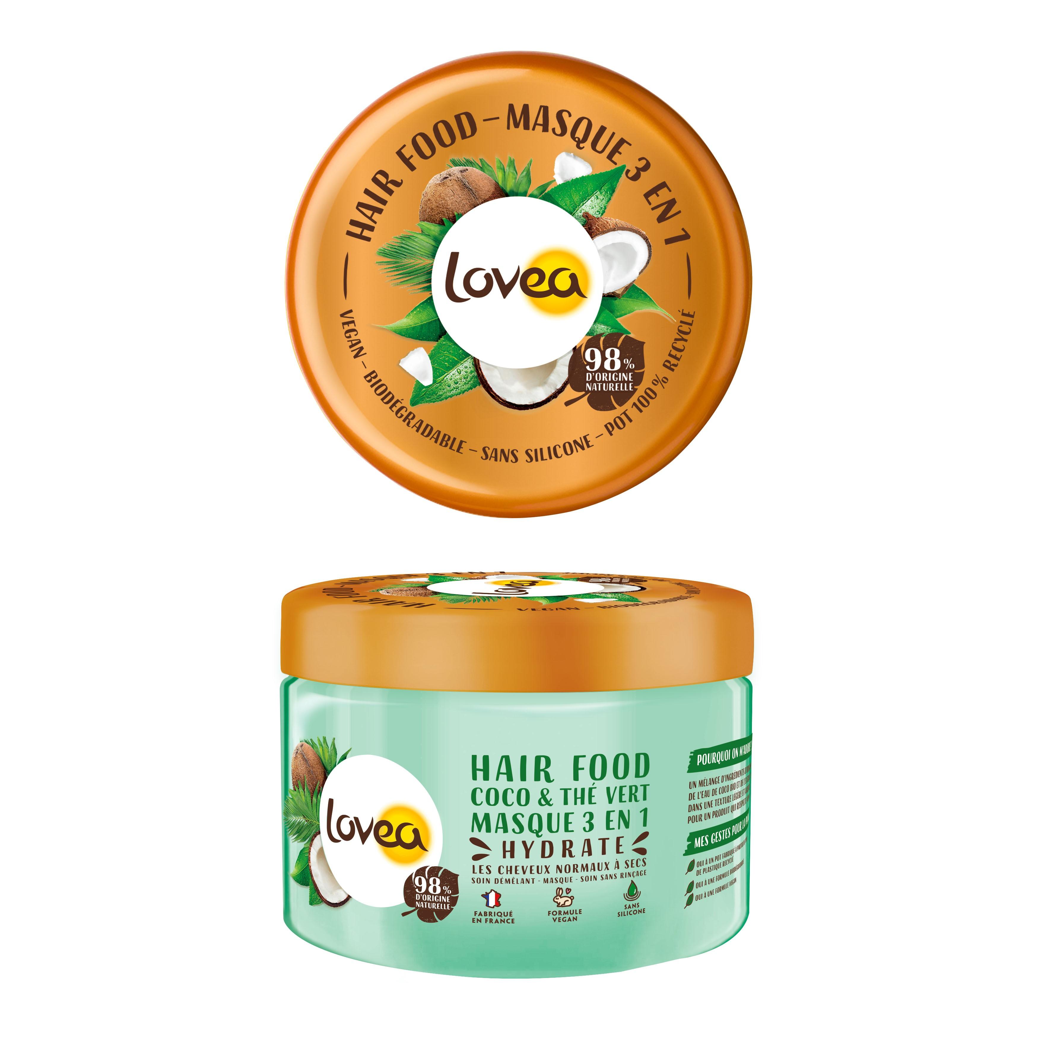 Lovea綠茶椰子三合一護髮膜 390ml