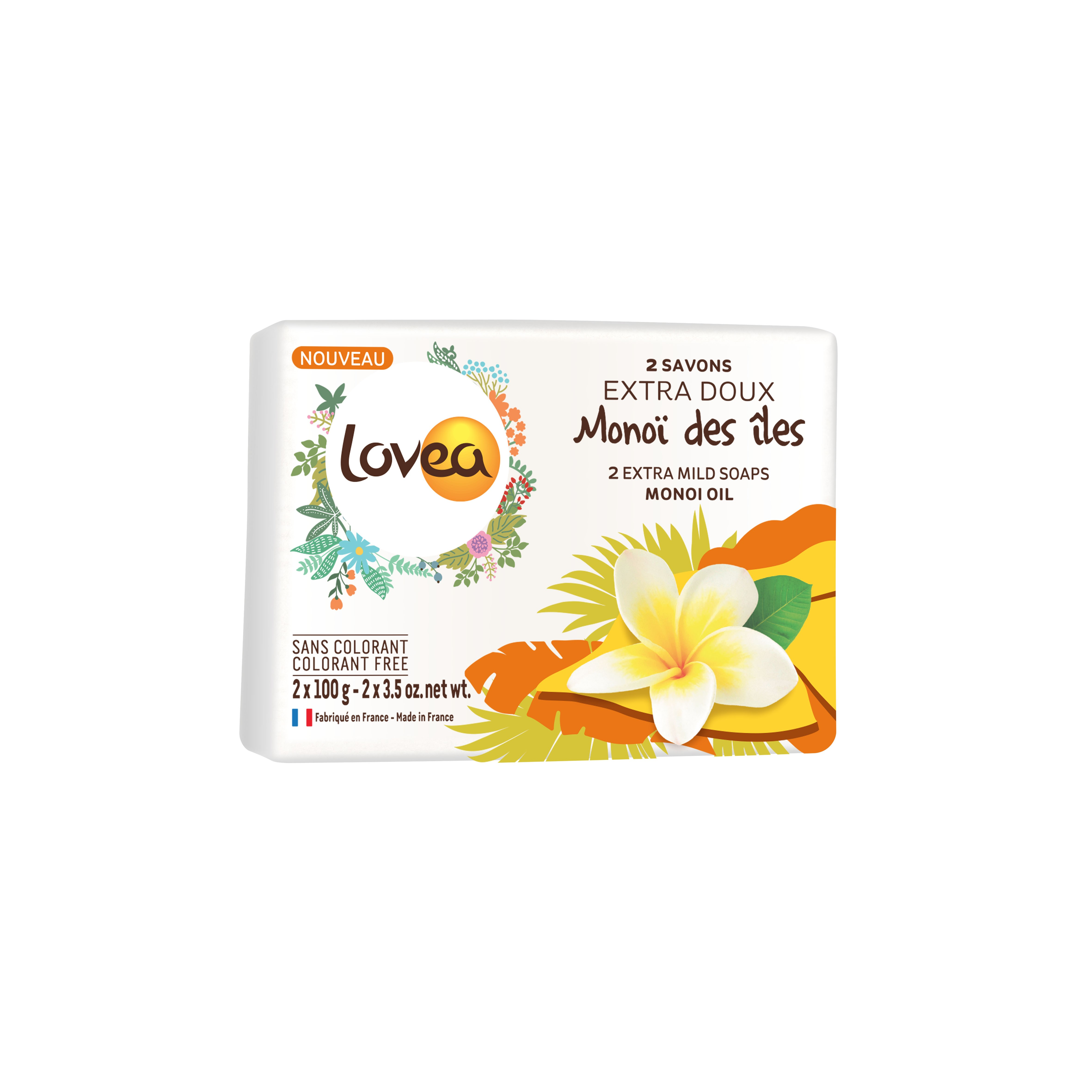 Lovea大溪地梔子花溫和香皂 2x100g